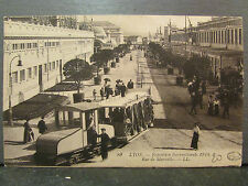 cpa 69 lyon exposition internationale 1914 tramway tram rue de marseille animee