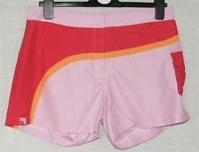 "NEW TRESPASS LADIES RED, ORANGE & PINK SHORTS SIZE M Waist 32"" 81cm"
