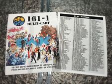 161-1 Multicart And Games List Neo Geo Mini Arcade Marquees