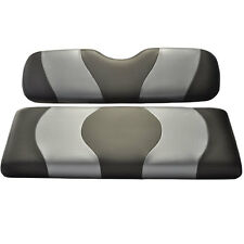 WAVE CARBON Two-Tone Front Golf Cart Seat Covers Club Car, Ez Go Yamaha