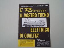 advertising Pubblicità 1965 TRENI RIVAROSSI HO