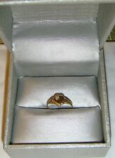 10k Yellow Gold Heart with Small Diamond Ring Size 5
