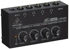 New BEHRINGER MICROAMP HA400 Ultra-Compact4-Channel Stereo Headphone Amplifier[F
