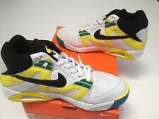 2007 Nike AIR TECH CHALLENGE 1 WHITE BLACK SONIC YELLOW AGASSI Uk size 10 BNIB