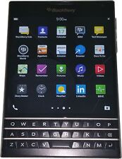 Used, Unlocked Black BlackBerry Passport With 32GB Memory - Good Condition