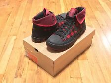 NIKE WOOLY HIGH BUFFALO PLAID DUCK BOOT 317049 001 SIZE 10 RARE EURO EXCLUSIVE