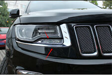 Front Head Light Eyelid Decorative Trim 8pcs for Jeep Grand Cherokee 2014 2015