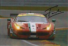Francois perrodo MANO FIRMATA AF CORSE FERRARI 7x5 FOTO Le Mans 8.