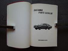 JDM MAZDA SAVANNA Original Genuine Parts List Catalog
