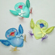 3 Happy Chicks 3D Wall Sticker Baby Shower Gifts Nursery Furniture Accessories