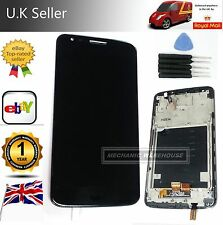 Full LCD Display Touch Screen Digitizer Frame For LG G2 D802 Black Replacement
