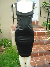 LIDA BADAY BLACK STRETCH FITTED SLEEVELESS COCKTAIL Sz 4