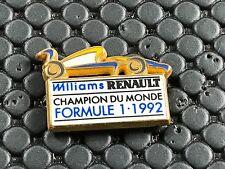 pins pin BADGE CAR RENAULT F1 WILLIAMS 92  ARTHUS BERTRAND