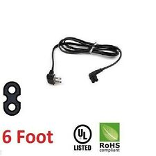 New 6FT Feet USA US 2 pin angled IEC 320 C7 power cord For Samsung LCD LED TV'S