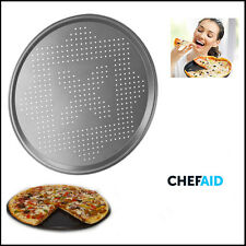Non-Stick Pizza Pan 30CM CHEF-AID Goldflon Baking Coated Round Oven Vented Tray