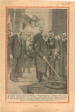 Président Paul Doumer Flamme Tombe du Soldat Inconnu Etoile 1931 ILLUSTRATION