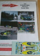 Decals 1/24  réf 916 Subaru WRC ATKINSON SUEDE 2005
