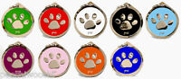 Pet Dog Identity Tag, Quality PAW Design ID Disc Free Delivery, Engraving Option