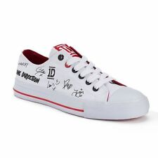 One Direction Autograph White Low Top Canvas Women's Sneakers Size 6 NEW