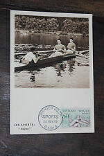 carte 1er jour - Sports - Aviron - 1953 - Maximum