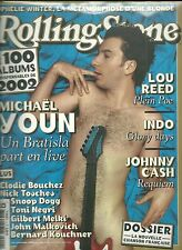 MAGAZINE - ROLLING STONE / LOU REED, INDOCHINE, JOHNNY CASH, OPHELIE WINTER 2003