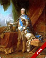 LOUIS XV KING OF FRANCE IN ARMOR PAINTING FRENCH HISTORY ART REAL CANVAS PRINT