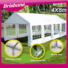 *QLD PICKUP* Galvanised pole Commercial Grade Heavy Duty gazebo marquee 8x4M