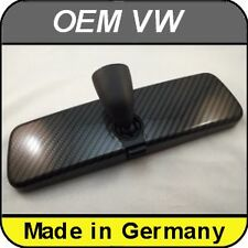 OEM VW Rear View Mirror Carbon Style Polo Golf Jetta Tiguan Passat Scirocco