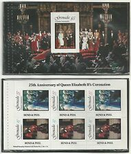 GRENADA # 877 a,b JUBILEE OF QUEEN ELIZABETH II CORONATION Sheets