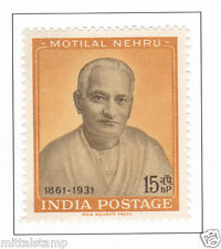 PHILA354 INDIA 1961 SINGLE MINT STAMP OF MOTILAL NEHRU MNH