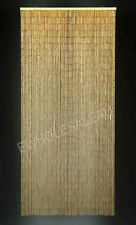 HANDMADE BAMBOO CURTAIN BLIND DOOR FLY SCREEN ROOM DIVIDER NATURAL 90 Strand