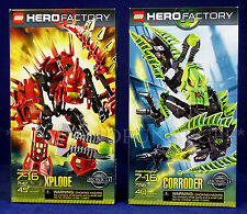NEW - XPLODE & CORRODER - HERO FACTORY Lego 7147 7156 - Bionicle - 2 SEALED SETS