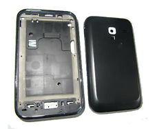 For Samsung Galaxy Ace Plus S7500 Fascia Housing Back Battery Cover Black UK