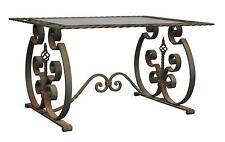 table basse en fer forgé style année 40