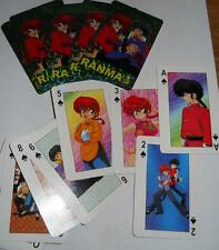 Japanese Manga RANMA 1/2 Deck of Playing Cards with Charectors on Cards Sealed