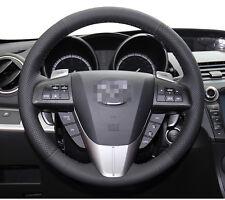 Leather Steering Wheel Cover for 2010 2013 Mazda 3 M3 2012 2014 2015 Mazda 5 M5