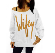 Womens Casual Long Sleeve Gold WILEY Loose Jumper Hoody Sweater Pullover Tops XL