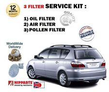 FOR TOYOTA AVENSIS VERSO 2.0 VVTi  2001-2005 NEW OIL AIR POLLEN FILTER SERVI KIT