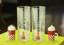 2015 Korea Starbucks Christmas Nutcracker Glass 2ea Candy Cane Whip Ornament 2ea