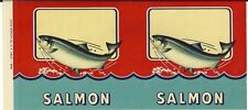 "25 Original Unused Vintage 1940's Generic Salmon Can Labels  ""CHEAP"""
