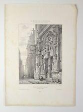 Lithographie XIXème - St Eustache à Paris - Monthelier - Chapuy