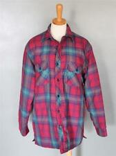 Vtg 80s Coleman Plaid flannel Shirt jacket men M Grunge punk Lumberjack F01T