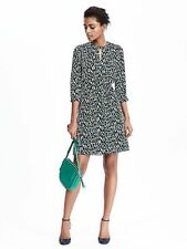 NWT Banana Republic Limited Edition leopard print keyhole dress Silk  SIZE 0 P