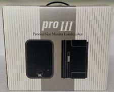 JBL Pro III Personal Size Monitor Loudspeakers - Complete In Box