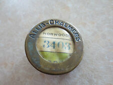 Vintage brass Allis-Chalmers Norwood Ohio factory plant Employee badge