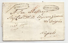 V72-SICILIA-ASSICURATA DA NOTO A NAPOLI 1847