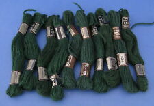 Lot of 10 Skeins DMC Laine Colbert Tapestry Yarn Wool #7408 Dark Green France
