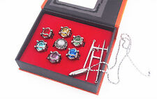 Katekyo Hitman Reborn Vongola Cosplay Ring Pendant Necklace Metal Set New in Box