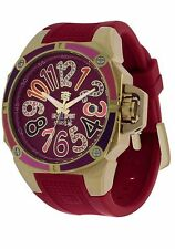 TechnoSport TS-200-Splash 5 Women's Gold/Cranberry Dial with 2 Straps