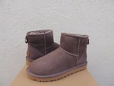 UGG CLASSIC MINI II STORMY GREY WATER-RESISTANT SUEDE BOOTS, US 6/ EUR 37 ~NIB